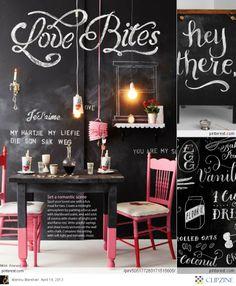 """Love Bites""  haha.  Chalkboard Art"