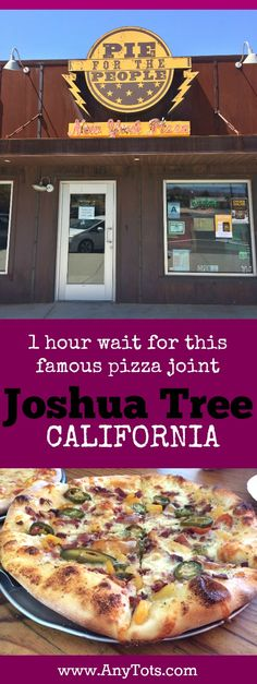 Try this famous pizza place when visiting Joshua Tree, California. Check what we ordered. www.anytots.com