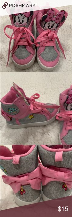 New Girls Toddler Disney Store Minnie Mouse  Shoes Unicorn Colors Size 8