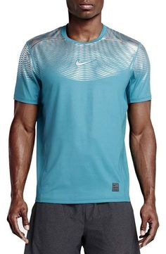 NEW Men's Nike Pro Hypercool Max Fitted T-Shirt 744281-418 MEDIUM MSRP $80 Bin 4 #Nike #ShirtsTops