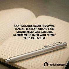 Ini Hidupmu Sendiri Faith Quotes, Words Quotes, Wise Words, Qoutes, Life Quotes, Motivational Quotes, Inspirational Quotes, Self Reminder, Quotes Indonesia