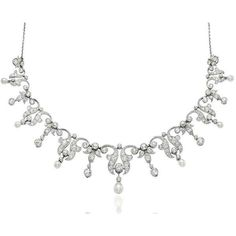AN EARLY 20TH CENTURY PEARL AND DIAMOND TIARA/NECKLACE ❤ liked on Polyvore featuring jewelry, necklaces, diamond jewellery, white pearl necklace, diamond jewelry, pearl jewelry and pearl necklace