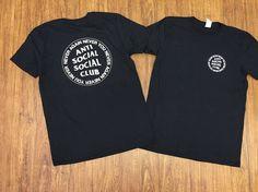 Anti Social Social Club Black T-Shirt ASSCKanye West i feel