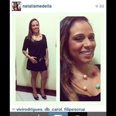 @nataliamedella com vestido bolinha da @projetogrum ! Amamos o #look!!!!! Se você tiver fotos com peças da #MarcheLapin , basta colocar @marchelapin no comentário ou enviar para contato@marchelapin.com.br