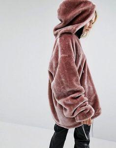 Story Of Lola | Abrigo con capucha extragrande de pelo sintético de Story Of Lola