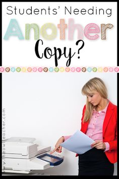 If you are like me, it's frustrating when students lose their worksheets and you have to make another copy!  This post has the solution for that classroom management problem with this simple binder!  Organization | Copying Tricks | Consequences