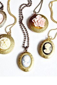 Cameo Locket Necklaces #jewelry