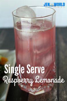 An easy recipe for a single serve lemonade made using Emergen-C Raspberry flavor. #EmergenCRecipes #ad
