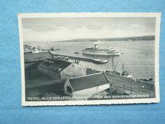 Memel, Blick vom Lotsenturm auf Hafen und Kurische Nehrung