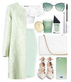 """""""WHITE & MINT"""" by andreearucsandraedu ❤ liked on Polyvore featuring Alexander McQueen, Roland Mouret, Mary Katrantzou, Gianvito Rossi, Italia Independent, Keds, Bulgari, GUiSHEM, Anya Hindmarch and MAC Cosmetics"""