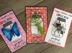 Valentines Day Kids - Valentines Day Class Card - Valentines Day School - Candy Free Valentines Day Treat HAPPY VALENTINES DAY LOVE BUG! Send your child to school with these adorable Valentines Day Cards that have a plastic bug toy attached! The perfect preschool or classroom gift!!!
