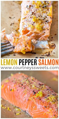 Lemon Pepper Salmon is a well-known salmon seasoning recipe. You can use lemon zest and cracked pepper instead of lemon pepper seasoning for a fresh and delicious baked salmon! Canned Salmon Recipes, Fish Recipes, Seafood Recipes, Cooking Recipes, Salmon Recepies, Dinner Recipes, Vegetable Recipes, Dinner Ideas, Baked Salmon Lemon