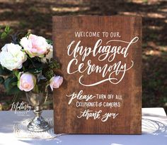 Unplugged Wedding Sign, Rustic Wedding Signs, Unique Wedding Ceremony Ideas - Sign by Mulberry Market Designs
