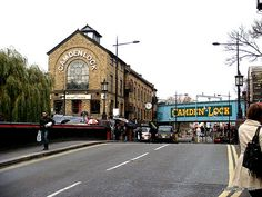Camden market. Its my favorite place in all of London! I miss it there so much!