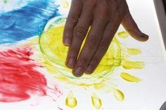 Pintar en la mesa luminosa