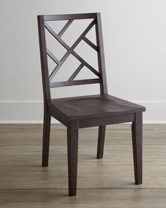 """Two """"Karington"""" Espresso Side Chairs at Horchow.  #horchow"""
