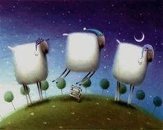 Insomniac sheep. ©Rob Scotton