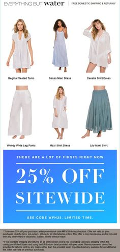 💰 off the tab at Everything But Water via promo code Everything But Water coupons and promo codes from The Coupons App. April 10th, Couponing 101, Cosmetic Treatments, Shopping Coupons, Maxi Shirt Dress, Plastic Surgery, Wide Leg Pants, Everything, Lovers