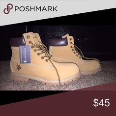 Mens boots Brand new never used still has tag (Good for a Christmas gift) US POLO ASSN Shoes Boots