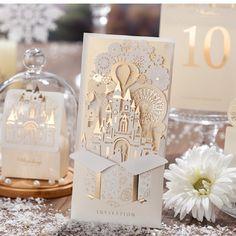 Elegante de Prata Pop up 3D folha de Ouro do cartão de convite de corte A Laser cartão de Convite de Casamento Wishmade convites De Casamento Novo em Cards & Convites de Casa E Jardim no AliExpress.com | Alibaba Group