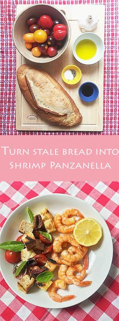Family dinner in a flash! This 15-minute grilled shrimp panzanella recipe is a great use for stale bread