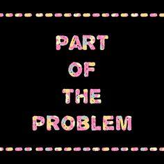 You're Part of The Problem Canvas Print by Kat Blaque http://blaquekat.tumblr.com http://lookbookillust.tumblr.com/ http://katblaque.tumblr.com/ https://www.facebook.com/kat.blaque.5 https://twitter.com/kat_blaque https://www.youtube.com/user/TransDIYer