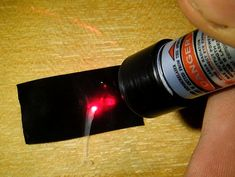 Easiest way to make a laser burn