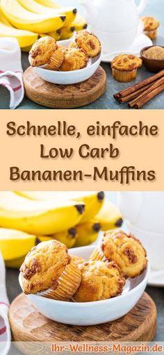 Schnelle Low Carb Zitronen-Muffins - Frühstück Low carb, Backen
