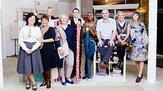 The Great British Sewing Bee contestants from series two. #sewingbee #gbsb #sewingmachine #vintage #craft
