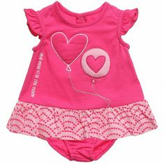Agatha Ruiz de la Prada Baby Girls Pink Dress with Knickers at Childrensalon.com
