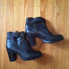 Fiorentini and Baker side zip buckle bootie Fiorentini and baker side zip buckle bootie. Faded black leather never worn size 39. Fiorentini + Baker Shoes Ankle Boots & Booties