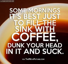 Some mornings it's all you can do…