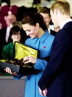 Inside the museum, the Duke & Duchess of Cambridge were presented with a child- sized flying helmet, lined with possum skin, for Prince George. 'We were very keen to mark the occasion with a gift and this is all about preserving the heritage for future generations, we thought what better than to give then a gift for the young Prince,' said Jane Orphan, chief executive of the museum.