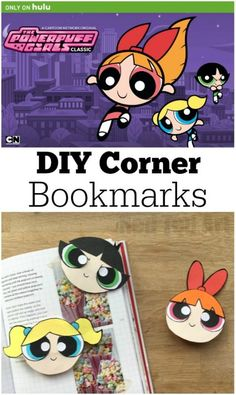 Oh we do love The Powerpuff Girls! Such mighty friends saving the world before bedtime. To celebrate the series' classic episodes now streaming only on Hulu we have created these oh so cute Powerpuff Corner Bookmarks! Enjoy. #PowerpuffOnHulu #ad