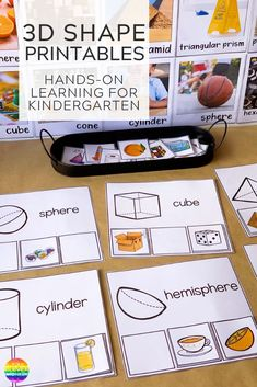 Learning about shapes? This pack of easy to prep printables is perfect for learning about the dif Shape Activities Kindergarten, 3d Shapes Activities, Sorting Activities, Preschool Math, Preschool Kindergarten, Teaching Ideas, Printable Shapes, Creative Writing Ideas, Shape Puzzles