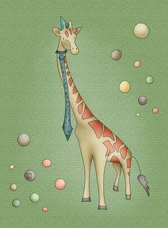 Giraffe Art Print by Carina Povarchik   Society6