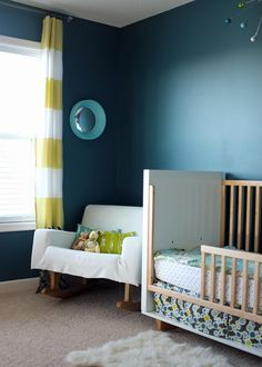 beautiful color choices and a Convex Nursery Mirror at Teal and Lime