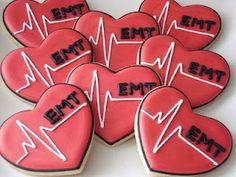 EMT cookies - very cute... After college & working for a few years, I trained as EMT, and was certified.