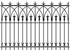 Metal fence ornament