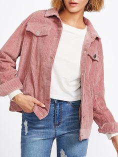 Pocket Front Cord Jacket