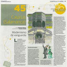 """""""La actual Casa Lis, el edificio modernista más representativo de Salamanca, se construyó como palacete residencial en 1905 y en la actualidad alberga el Museo Art Nouveau y Art Déco. Es el único museo de estas características en nuestro país y el edificio modernista más importante de la ciudad del Tormes."""" Así describe Enrique Berzal este museo, vuestra casa, en 'El Norte de Castilla' del 18 de junio. Gracias por llevar Lis más allá de Lis a través de esta reseña en 'Monumentos de Leyenda.'"""