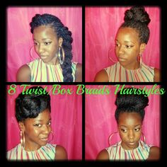 Hairstyles for Senegalese Twists/Box Braids (pt.3)
