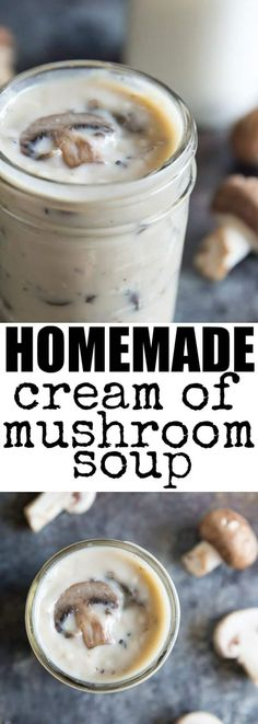 Skip the canned goods and whip up Homemade Condensed Cream of Mushroom Soup in 20 minutes or less! Ideal for casseroles or DELICIOUS on its own.