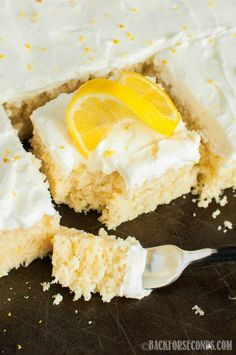 Lemon Sheet Cake from Scratch