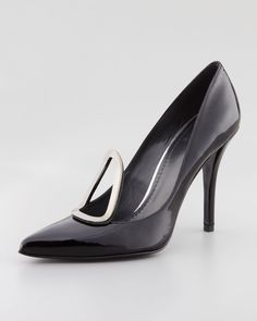 Gojee - Pear Metal-Detail Patent Pump by Stuart Weitzman