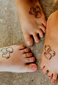 Mother and daughter tats.