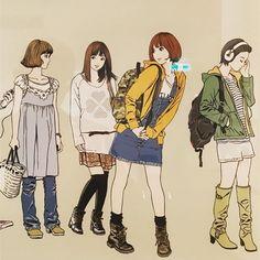 Aesthetic Art, Aesthetic Anime, Manga Art, Anime Art, Character Art, Character Design, Cute Girl Drawing, Japanese Art, Cyber