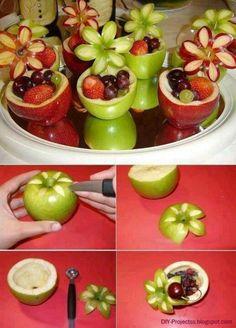 Äppelblommor + skålar