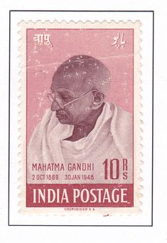 ef25614f143 A commemorative postage stamp on MAHATMA GANDHI 2 OCT 1869 30 JAN 1948 Date  of Issue  15 Aug 1948 Denomination  INR 10.00 Category  Personality