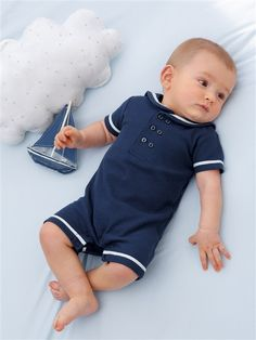 NAUTICAL ALL-IN-ONE BLUE i want you for baby macho
